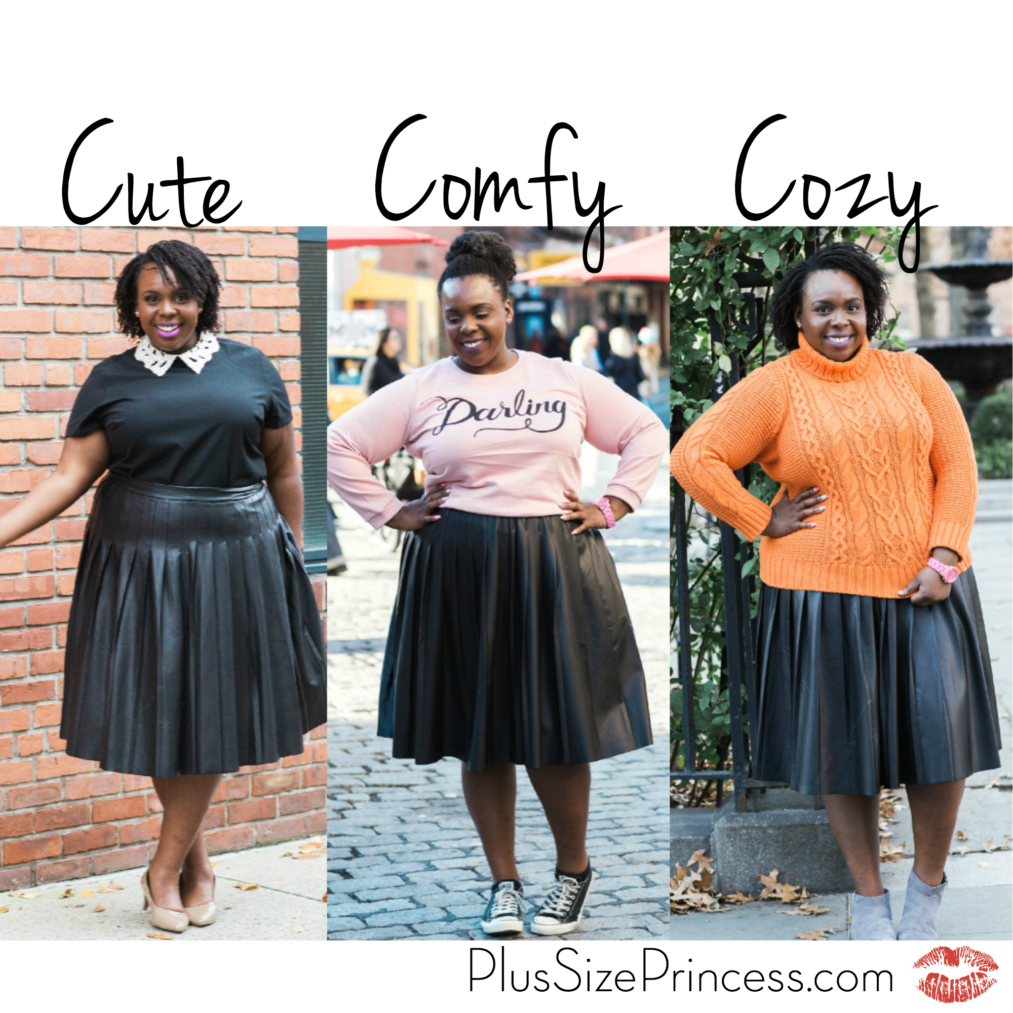 Three Ways to Wear a Pleated Leather Skirt