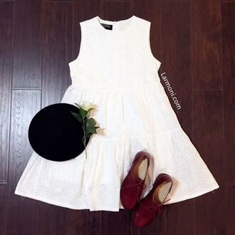 dress white dress mini dress