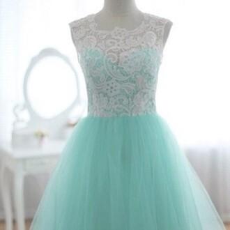 dress turquoise lace dress vintage dress