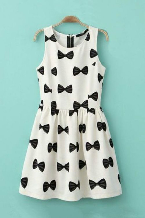 dress bow black white cute little bows cute black white bows black dress black and white dress white dress bow dress bow tie dress