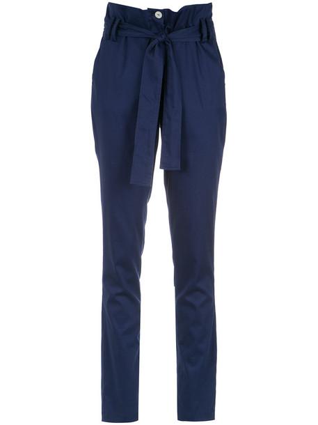 Olympiah high women spandex cotton blue pants