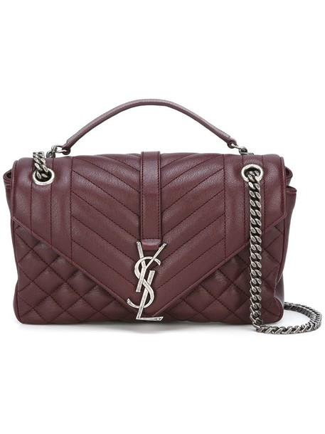 Saint Laurent women bag shoulder bag purple pink