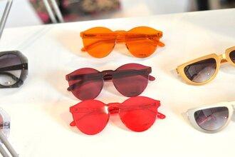 sunglasses red orange