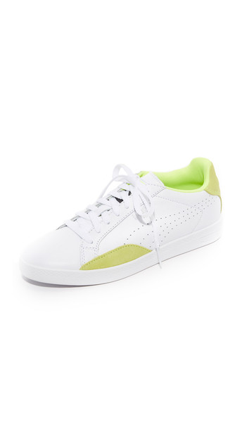 Puma Match Lo Basic Sports Sneakers - Puma White/Safety Yellow