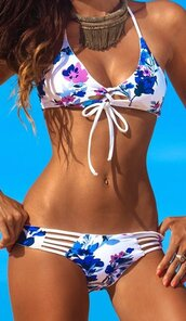 swimwear,white,blue,floral,lacec up,strappy,hollow out,caged,blue and white,white and blue flowers,lace up,Lace up swimwear,lace up bikini,sexy bikini,brazilian bikini,strappy bikini,white bikini,floral bikini,summer,summer outfits,holidays,holiday outfit,preppy,musthav e,musthave,style,style scrapboom,style scrapbook,sexy,sexy swimwear,preppy preppy summer,women casual,casual,tumblr,tumblr bikini,tumblr swimwear,triangle,triangle bikini,blue floral,moraki