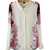 White Lapel Long Sleeve Floral Chiffon Blouse - Sheinside.com