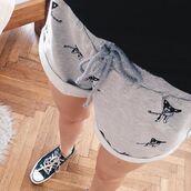 shorts,yeah bunny,iphdog,frenchie,comfy,grey,sweatshorts