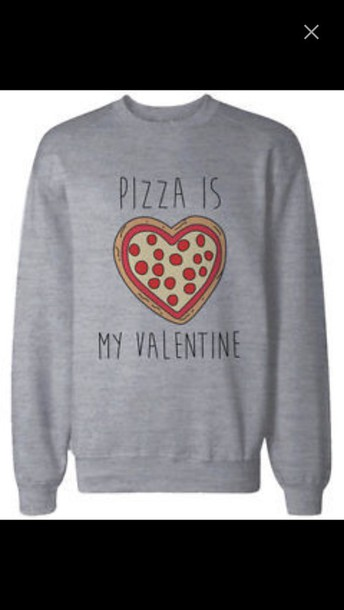 sweater pizza treny dope grey sweater