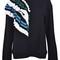 Msgm ruffle detail sweatshirt