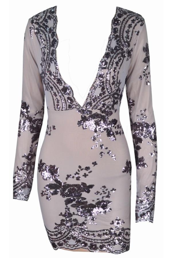 Zariah - PREMIUM Lace Embroidered Bodycon Dress