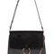 Medium faye leather & suede shoulder bag