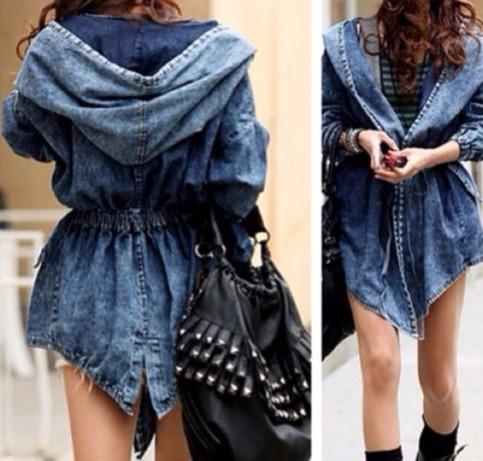 Hot Denim Hooded Wrap Jacket from DoubleLW on Storenvy