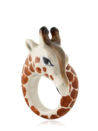 giraffe ring brown beige jewels