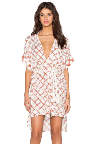 dress shirt dress print white