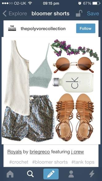 swimwear crochet crochet crop top bralette bikini triangle bikini crop tops shorts shirt tank top