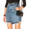 Lienzy летняя джинсовая юбка нерегулярные отворотом гладить кольцо кисточкой джинсовая юбка высокая талия джинсовая мини юбка женский купить на aliexpress