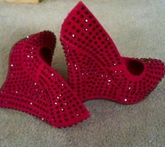 wedge wedges rhinestone ruby