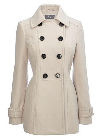 Stone pea coat