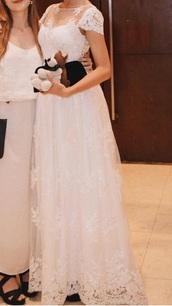dress,chiffon prom lace white bride wedding lg