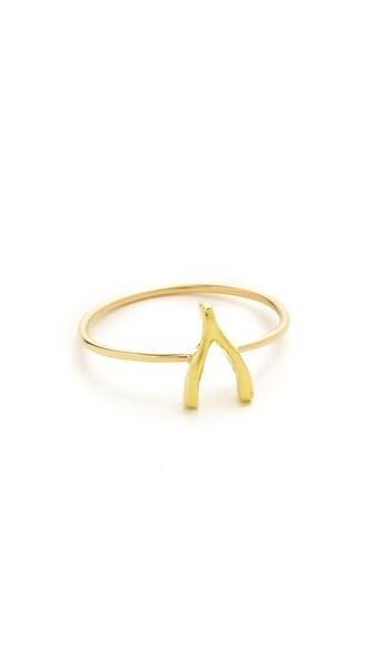 mini wishbone ring gold jewels
