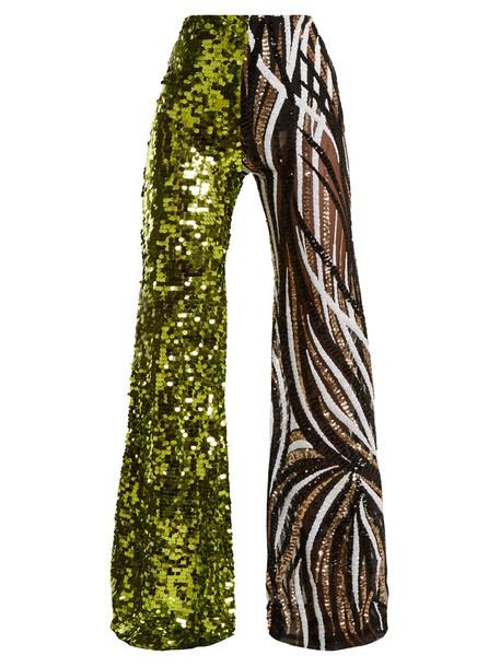 HALPERN high embellished green pants