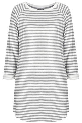 Stripe Raglan Sweat Tunic - Topshop USA