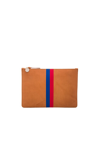 clutch stripes blue royal blue red
