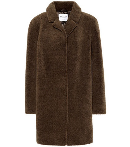 coat faux fur coat fur coat fur faux fur brown