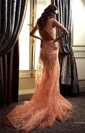 dress,peach,sparkle,pattern,vintage dress,sparkly dress,peach dress,bridal gown,wedding clothes,wedding dress