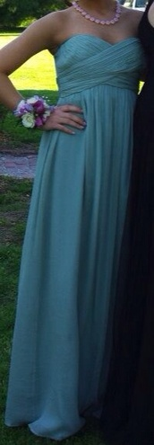 dress,bridesmaid,teal,turquoise,prom,strapless,long