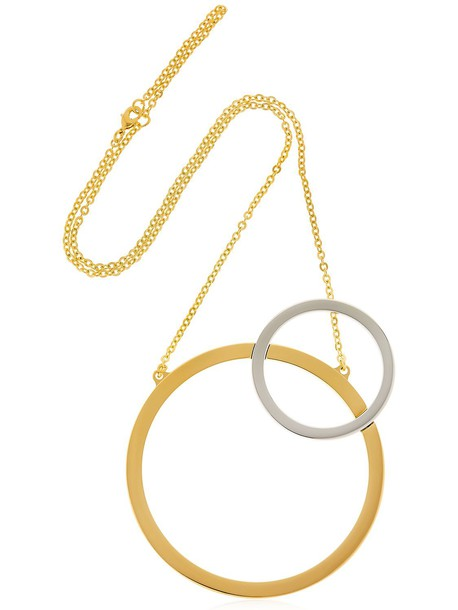 VITA FEDE Sole Two Toned Necklace in gold
