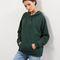 Dark green oversized seam trim hoodie