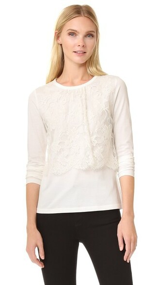 top long lace white