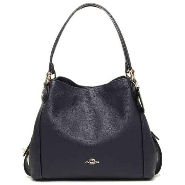 bag shoulder bag leather navy blue