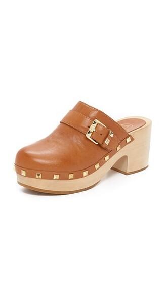 clogs camel shoes
