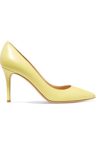 pastel pumps leather yellow pastel yellow shoes