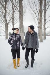 kelsey bang,blogger,hat,jacket,shirt,pants,shoes,winter outfits,menswear,rainboots,wellies,earmuffs