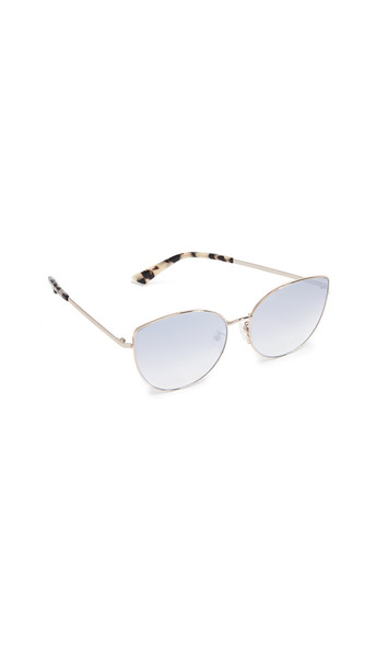 McQ - Alexander McQueen Iconic Feminie Cat Eye Sunglasses in gold / rose / silver
