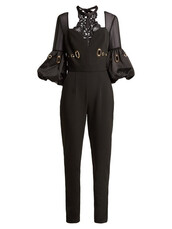 jumpsuit,lace,black