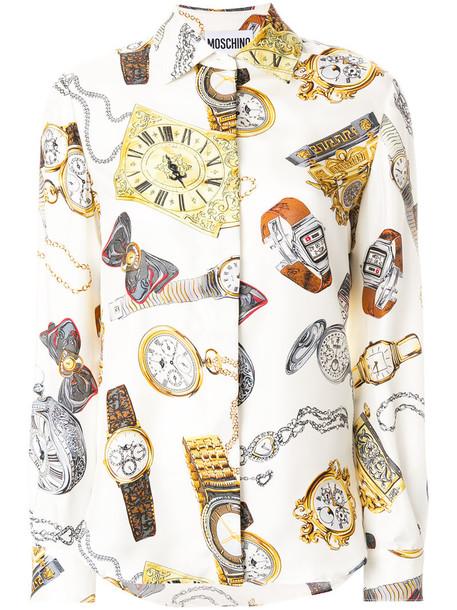 Moschino shirt women print silk top