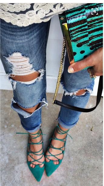 shoes, lace up flat, ballerina flats