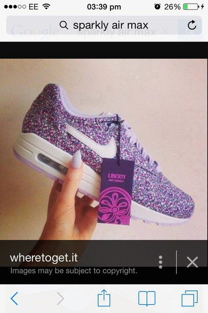 shoes white purple and teal colour.  nike air max