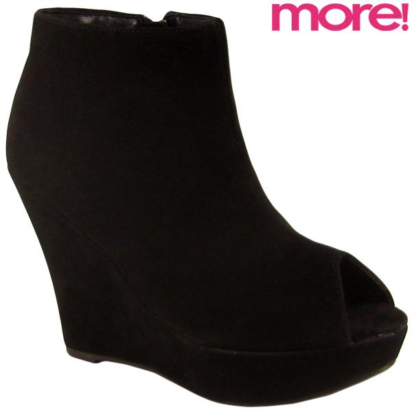Womens Wedge Peep Toe Shoe Boots