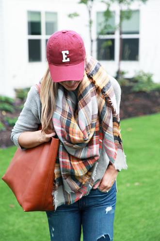 lemon stripes blogger bag scarf