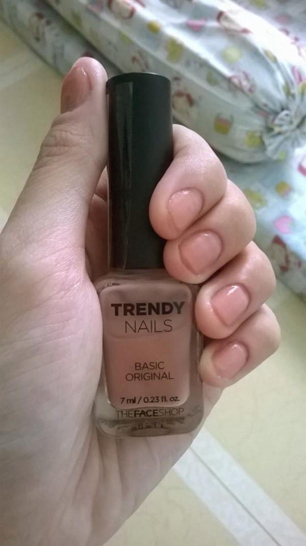 nail polish, trendy nails, the face shop, trendy, korean style, nude ...