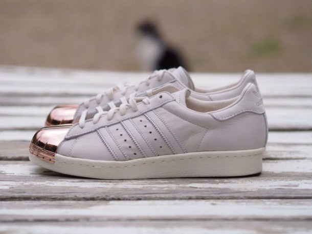 Adidas adidas Originals Superstar 80's Gold Metallic Trainers Asos