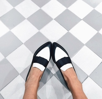white black fashion loafers black black and white flats flat shoe loafers