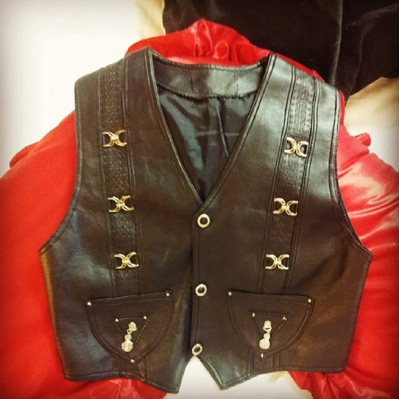 black faux jacket vest leather sleeveless leather vest