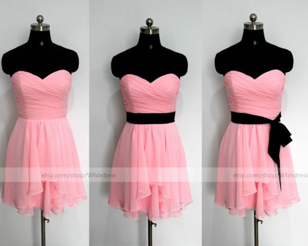 knee length bridesmaid dress pink bridesmaid dresses bridesmaid black sash bridesmaid dresses homecoming dress