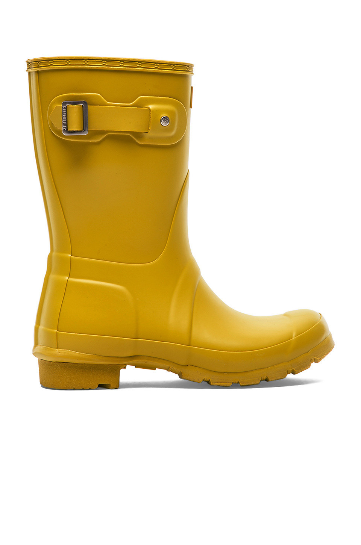 Hunter Original Short Rain Boot in yellow